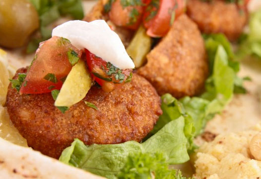 Recipe: Braised veggies with falafel and yogurt sauce