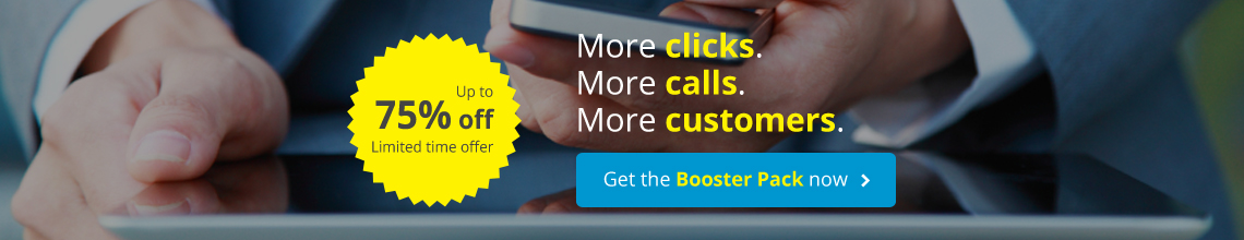 More Clicks. More Calls. More Customers. Get the Booster Pack now
