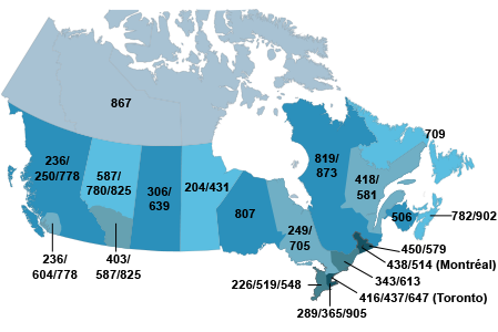 Canada 411 Free Area Code Lookup for Canadian Cities ...